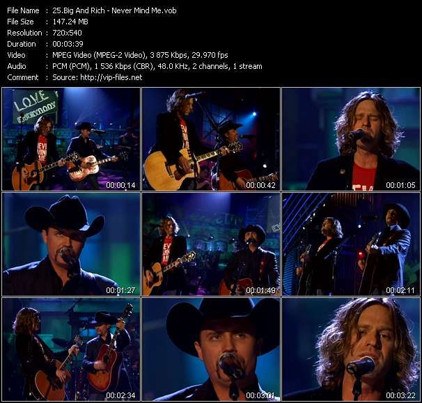 Big And Rich Video Clip(VOB) vob