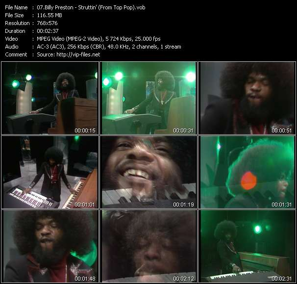 Billy Preston Video Clip(VOB) vob