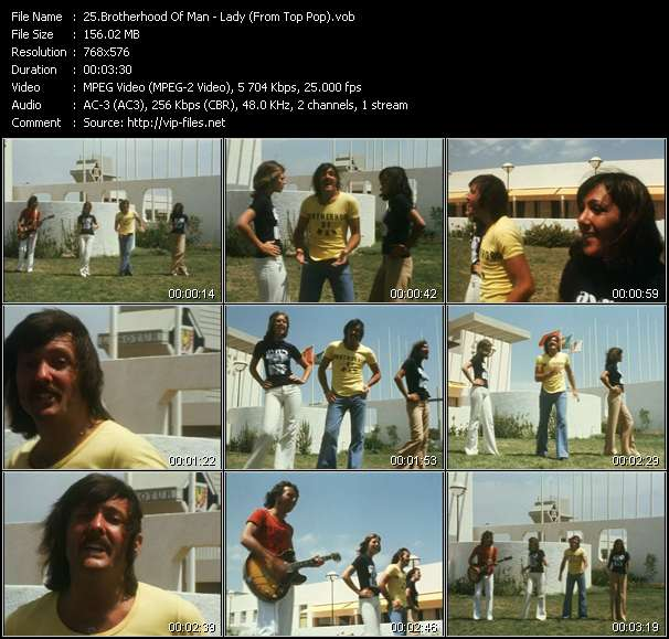Brotherhood Of Man Video Clip(VOB) vob