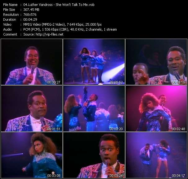 Luther Vandross Video Clip(VOB) vob