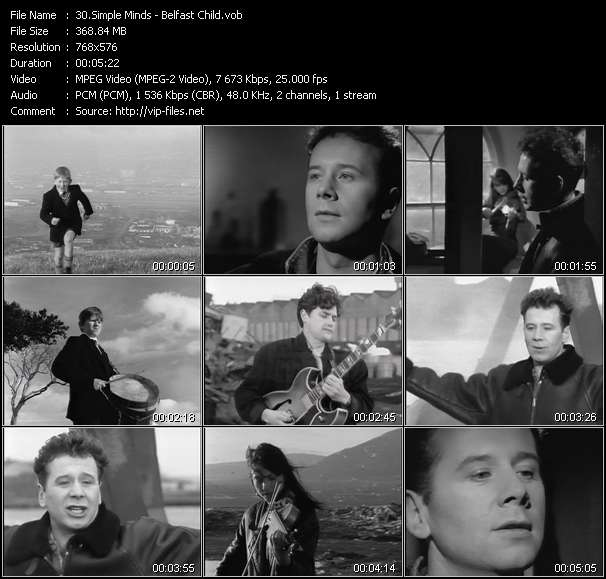 Simple Minds Video Clip(VOB) vob
