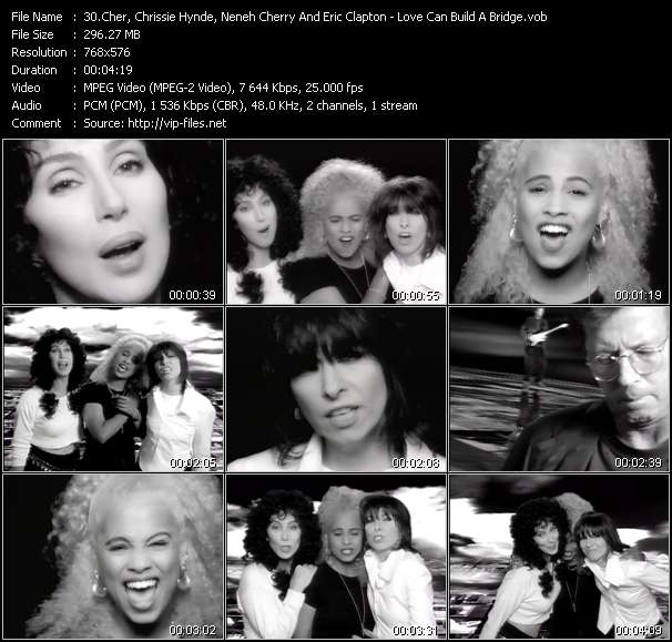 Cher, Chrissie Hynde, Neneh Cherry And Eric Clapton Video Clip(VOB) vob