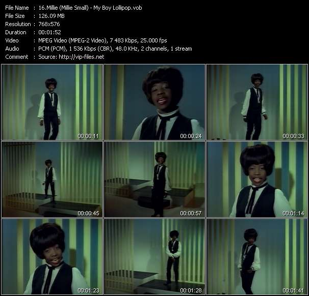 Millie (Millie Small) Video Clip(VOB) vob