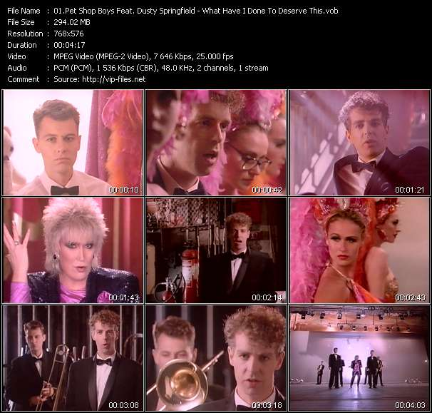 Pet Shop Boys Feat. Dusty Springfield Video Clip(VOB) vob