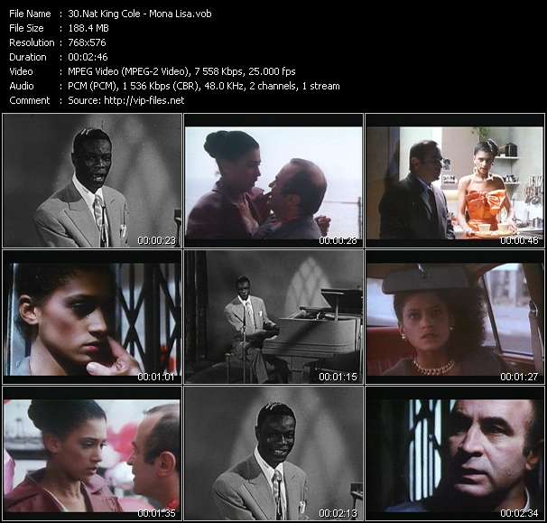 Nat King Cole Video Clip(VOB) vob