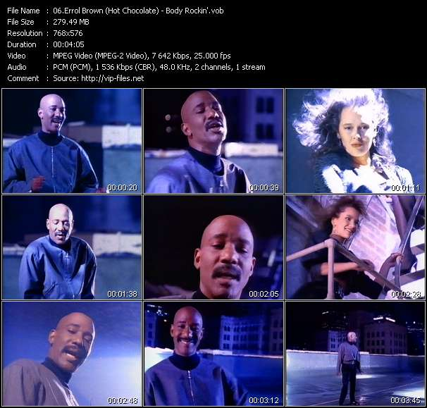 Errol Brown (Hot Chocolate) Video Clip(VOB) vob