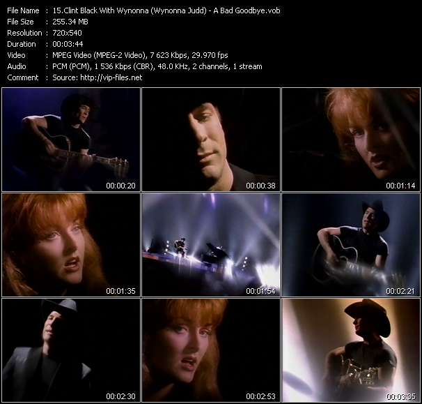 Clint Black With Wynonna (Wynonna Judd) Video Clip(VOB) vob