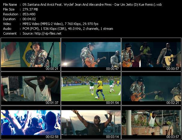 Santana And Avicii Feat. Wyclef Jean And Alexandre Pires Video Clip(VOB) vob
