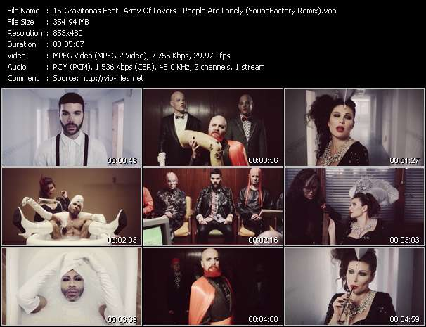 Gravitonas Feat. Army Of Lovers Video Clip(VOB) vob