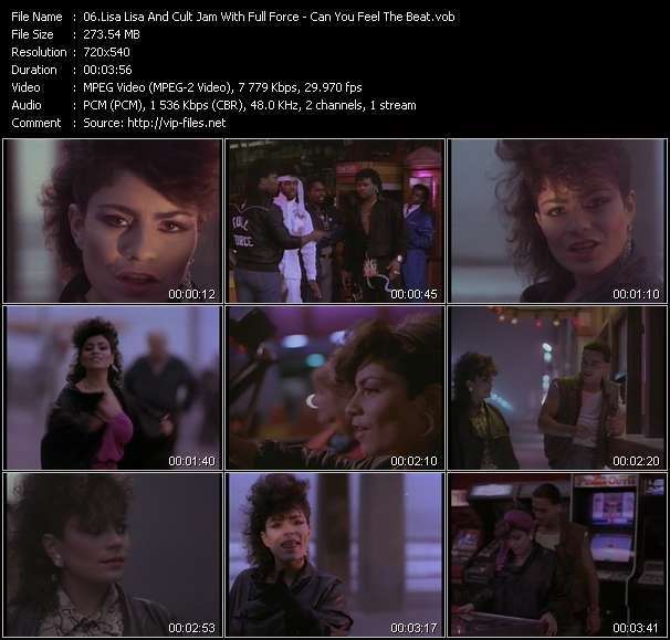 Lisa Lisa And Cult Jam With Full Force Video Clip(VOB) vob