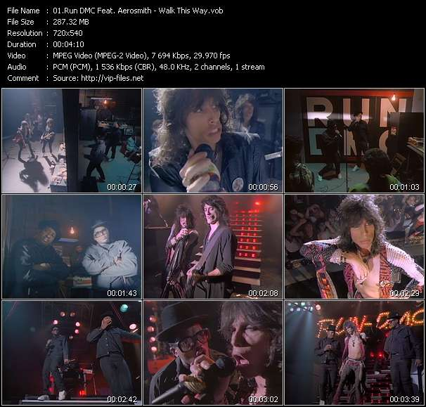 Run DMC Feat. Aerosmith Video Clip(VOB) vob