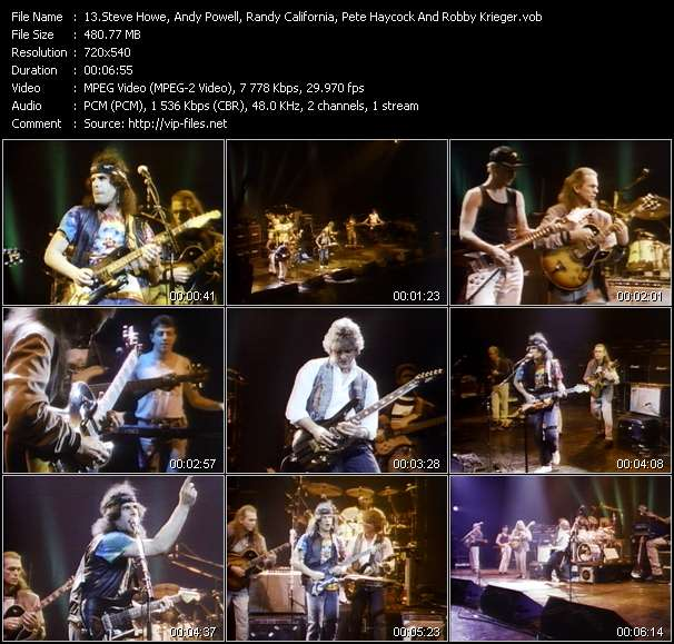 Steve Howe, Andy Powell, Randy California, Pete Haycock And Robby Krieger Video Clip(VOB) vob