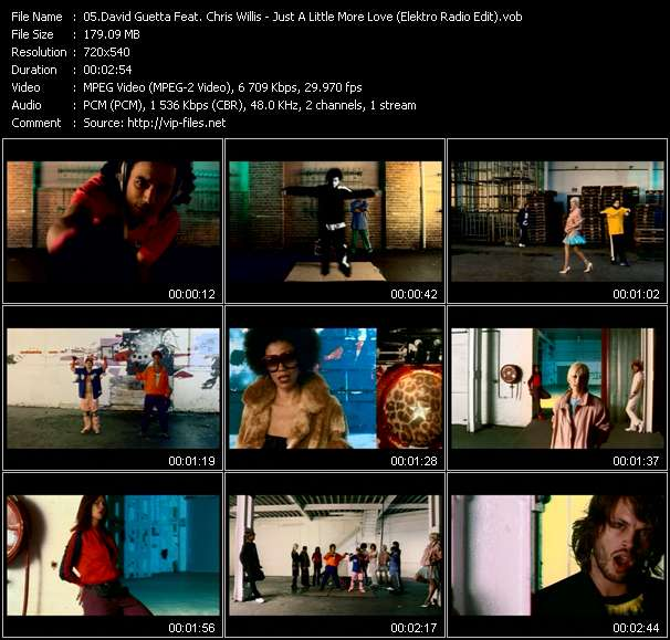 David Guetta Feat. Chris Willis Video Clip(VOB) vob