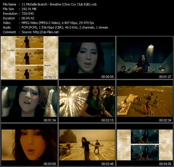 Michelle Branch Video Clip(VOB) vob