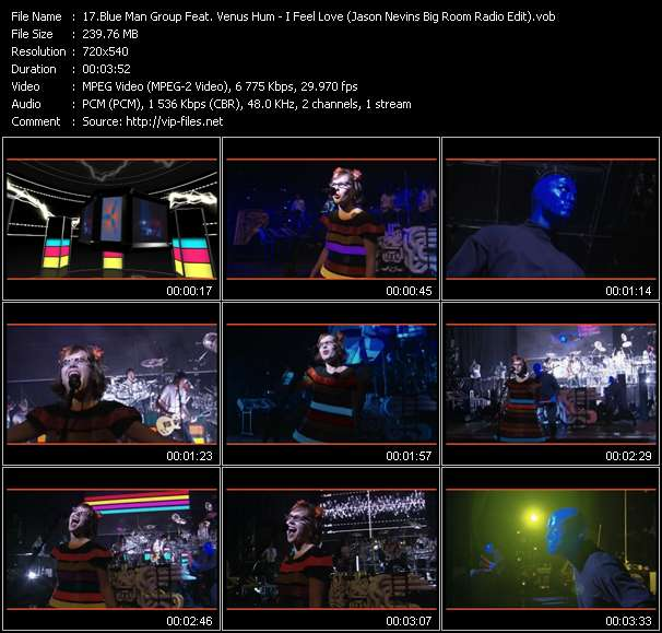 Blue Man Group Feat. Venus Hum Video Clip(VOB) vob