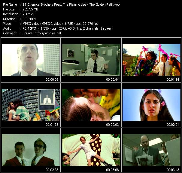 Chemical Brothers Feat. The Flaming Lips Video Clip(VOB) vob