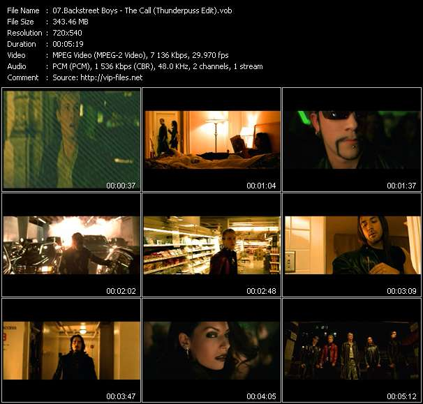 Backstreet Boys Video Clip(VOB) vob
