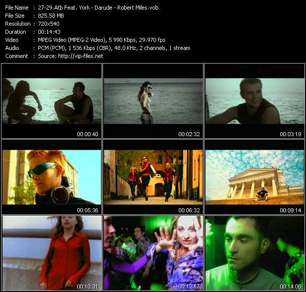 Atb Feat. York - Darude - Robert Miles Video Clip(VOB) vob