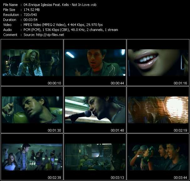 Enrique Iglesias Feat. Kelis Video Clip(VOB) vob