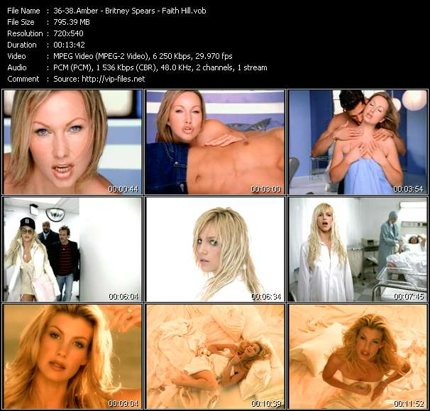 Amber - Britney Spears - Faith Hill Video Clip(VOB) vob