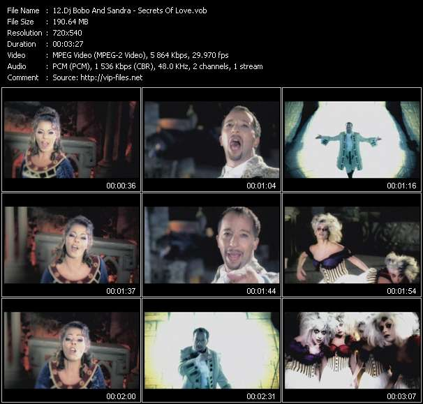 Dj Bobo And Sandra Video Clip(VOB) vob