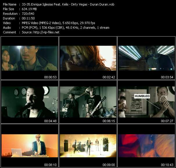 Enrique Iglesias Feat. Kelis - Dirty Vegas - Duran Duran Video Clip(VOB) vob