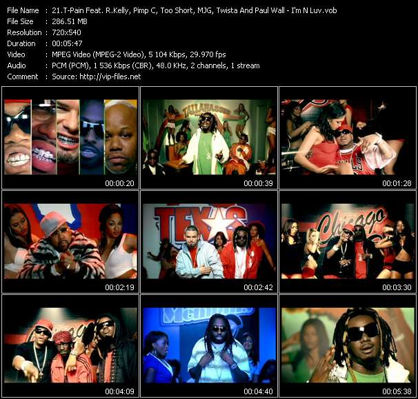 T-Pain Feat. R. Kelly, Pimp C, Too Short, MJG, Twista And Paul Wall Video Clip(VOB) vob
