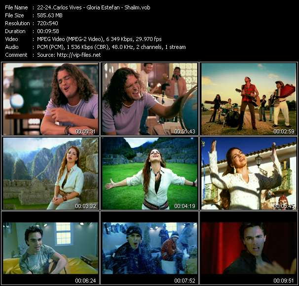 Carlos Vives - Gloria Estefan - Shalim Video Clip(VOB) vob