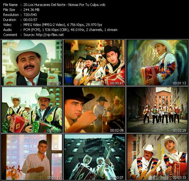 Los Huracanes Del Norte Video Clip(VOB) vob