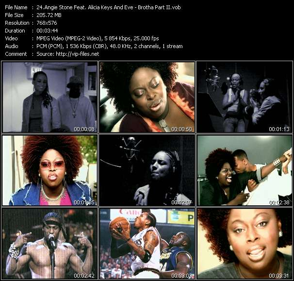 Angie Stone Feat. Alicia Keys And Eve Video Clip(VOB) vob