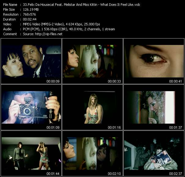Felix Da Housecat Feat. Melistar And Miss Kittin Video Clip(VOB) vob
