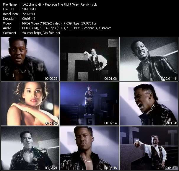 Johnny Gill Video Clip(VOB) vob