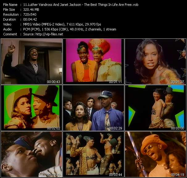 Luther Vandross And Janet Jackson Video Clip(VOB) vob