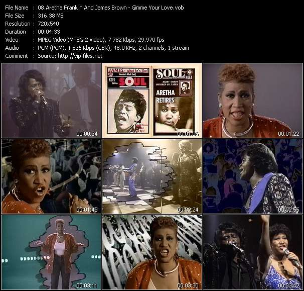 Aretha Franklin And James Brown Video Clip(VOB) vob