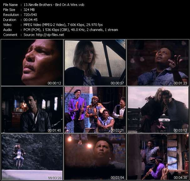 Neville Brothers Video Clip(VOB) vob