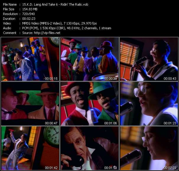 K.D. Lang And Take 6 Video Clip(VOB) vob