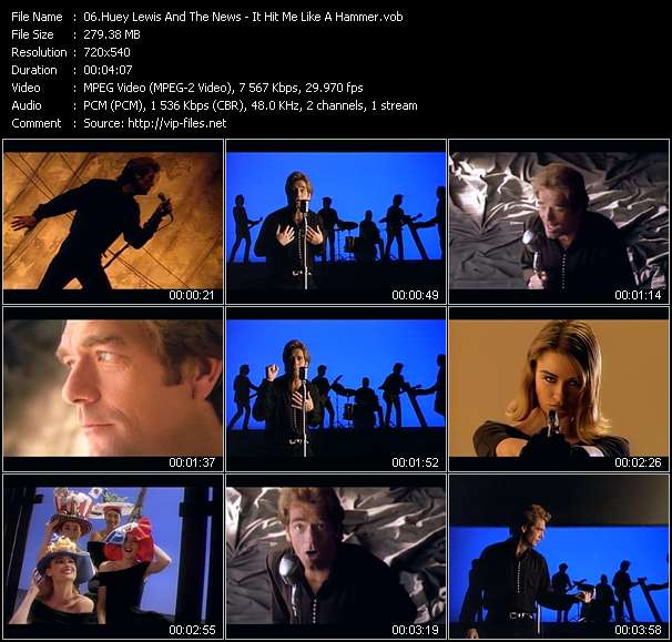 Huey Lewis And The News Video Clip(VOB) vob