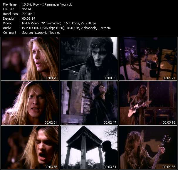 Skid Row Video Clip(VOB) vob
