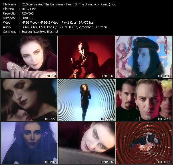 Siouxsie And The Banshees Video Clip(VOB) vob