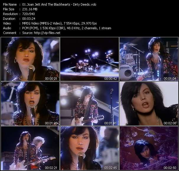 Joan Jett And The Blackhearts Video Clip(VOB) vob