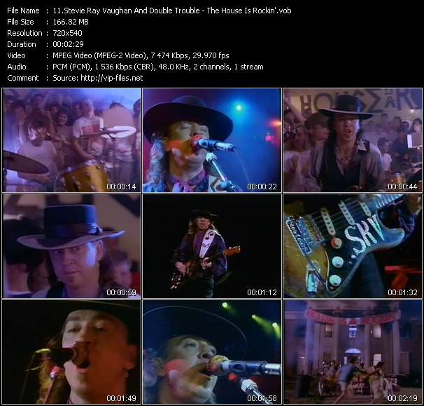 Stevie Ray Vaughan And Double Trouble Video Clip(VOB) vob