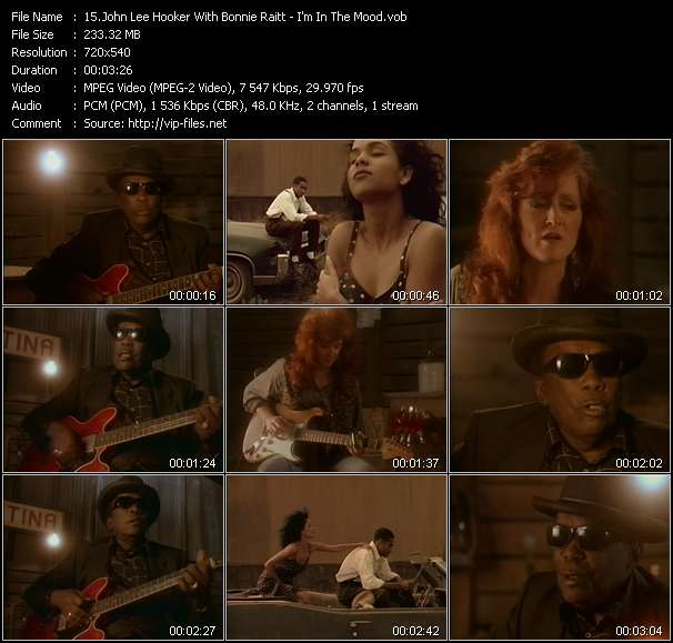 John Lee Hooker With Bonnie Raitt Video Clip(VOB) vob