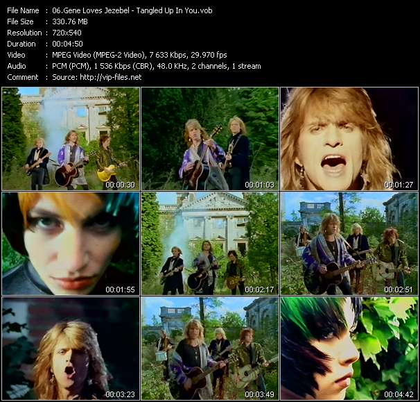 Gene Loves Jezebel Video Clip(VOB) vob