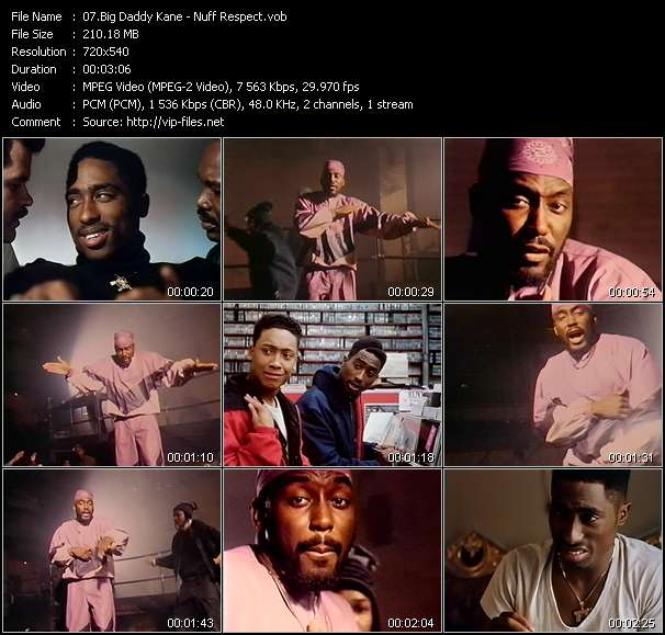 Big Daddy Kane Video Clip(VOB) vob