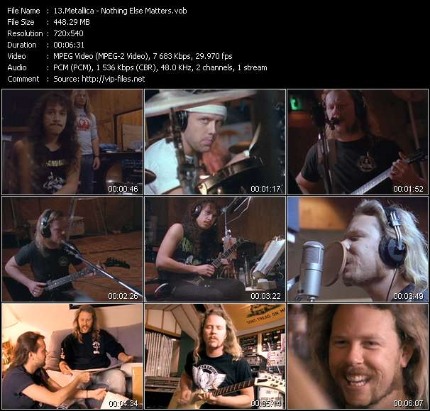 Metallica Video Clip(VOB) vob