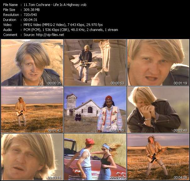 Tom Cochrane Video Clip(VOB) vob