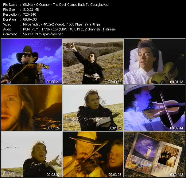 Mark O'Connor Feat. Charlie Daniels, Johnny Cash, Marty Stuart And Travis Tritt Video Clip(VOB) vob