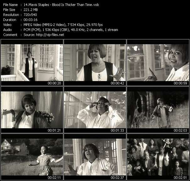 Mavis Staples Video Clip(VOB) vob