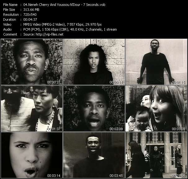 Neneh Cherry And Youssou N'Dour Video Clip(VOB) vob