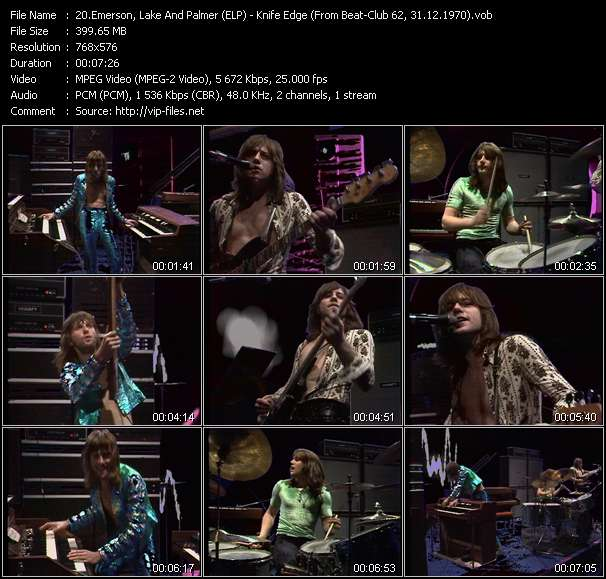 Emerson, Lake And Palmer (ELP) Video Clip(VOB) vob